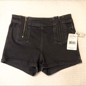 Free People Be Mine Zipper Shorts